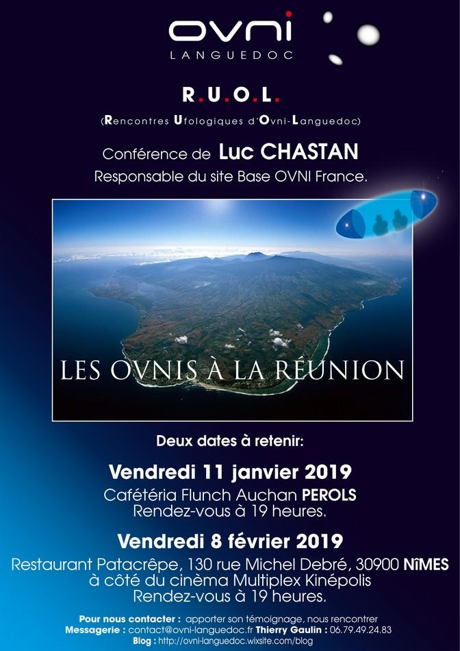 Conférences de Luc Chastan à Pérols 34 et Nîmes 30