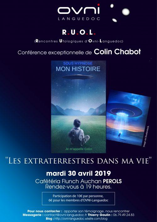 Événement: Colin Chabot aux Rencontres Ufologiques d'OVNI-Languedoc.