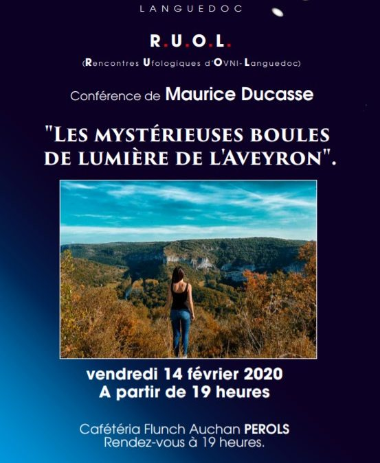 Conférence sur les boules lumineuses de l'Aveyron